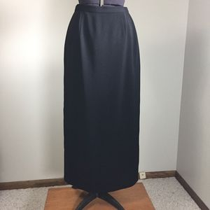 Villager Long Black Lined Skirt size 4 - back slit